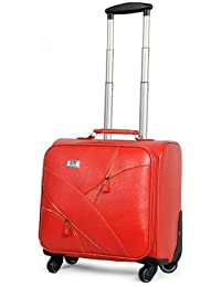 Di Grazia 16 Inch Business Class Boarding Rolling Laptop Cabin Case Luggage Suitcase Travel Trolley ( Red, 16inch-trolley-bagtone-red )