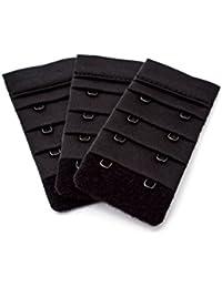 3 Piece pack of black bra extenders - 2 hook narrow 5acd4e971