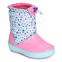 Crocs CB LodgePoint Graphic WNTRBT K Boots Filles Pink/Blue Snow Boots