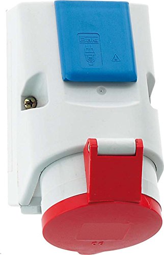 Bälle Elektrotechnik 109 Blue, Grey, Red socket-outlet – socket-outlets (200 – 415, 16 A, 50/60, 126 mm, 83 mm, - Outlet Rot Unten