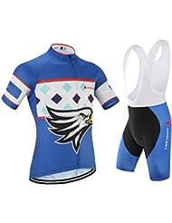 [Cojín 3D][traje[strap blancas] tamaño:M] hombres ropa de manga para rompevientos corta los ciclismo Jerseys rendimiento transpirable maillot chaleco