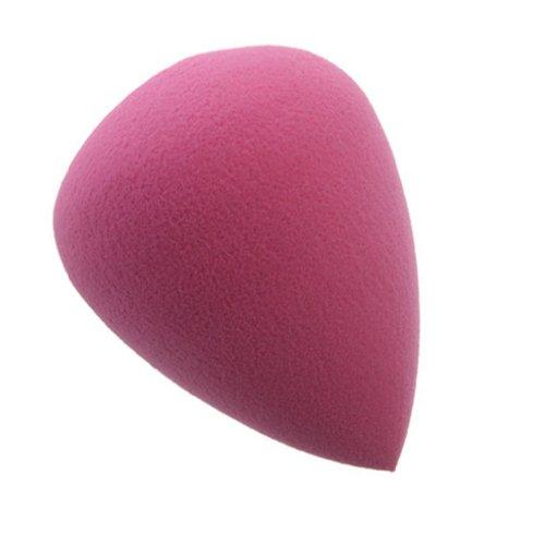 SODIAL(R) Houppe ¨¤ Poudre d'¨¦ponge cosm¨¦tique en forme de Larme Violet