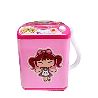 FORLADY Mini Geräte Kinderwaschmaschine Spielzeug Simulation Automatische Reinigung Waschmaschine Elektrische Make-Up Pinsel Cleane