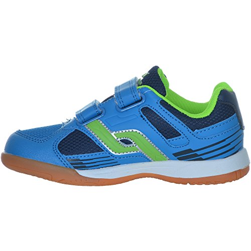 Pro Touch Bambini Indoor – Scarpe courtplayer Velcro Blu/Verde/Blu Blue / Green / Navy