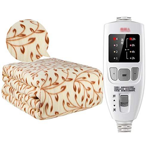 GGGDRT Heizdecke, Single Single Control Heizdecken, Komfortable Warm, Plüsch Einzelne Heizdecke, Familien-Schlafzimmer-Bettwäsche 180 * 80CM