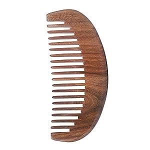 Kamm aus Sandelholz Breite 12cm Haarkamm Grob Massage Gesund Holzkamm antistatisch für Damen Herren Kinder Taschenkamm retro Bartkamm für langes dickes dünnes lockiges nasse Haare als Geschenk