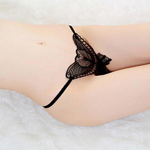 Frauenunterwäsche, Amlaiworld freie Größe Damen Unterwäsche Spitzen Unterwäsche T Transparent Gaze Hosen Schwarz