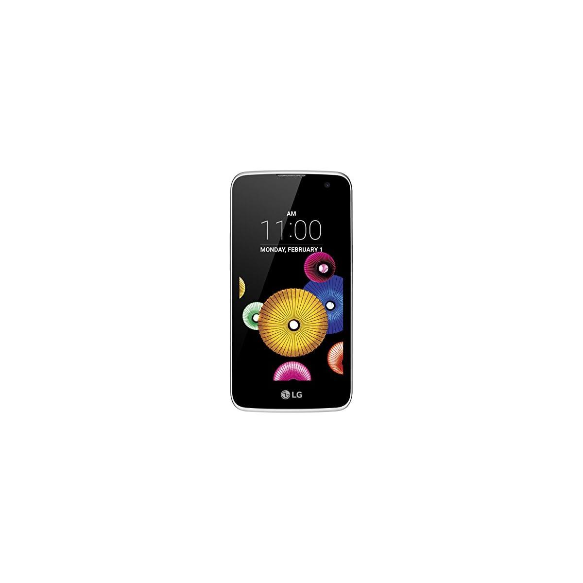 LG Mobile LGK120E.ADEUKU K4 Smartphone (11,4 cm (4,5 Zoll) IPS Display, 5 MP Kamera, LTE, Android 5.1, Wechselakku, MicroSD Slot)