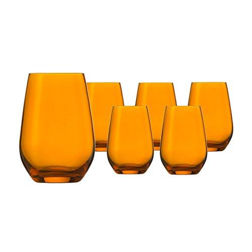 Schott Zwiesel Vina Spots Wasser Glas amber Set 6tlg. - Amber Glas Wasser