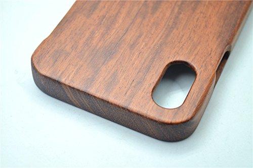 Holzsammlung® iPhone X Holzhülle - Rosenholz Maya - NatürlicheHandgemachteBambus / Holz Schutzhülle für Ihr Smartphone Rosenholz