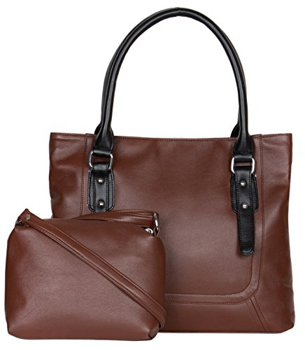 ADISA AD1015 brown women handbag with sling bag combo