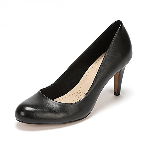 Clarks Carlita Cove Damen Pumps, Schwarz (Black Leather), 37.5 EU (4.5 Damen UK)