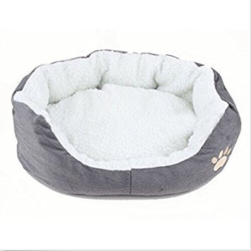 Round or Oval Shape Dimple Fleece Nesting Dog Cave Bed Pet Cat Bed for Cats and Small Dogs by Estore