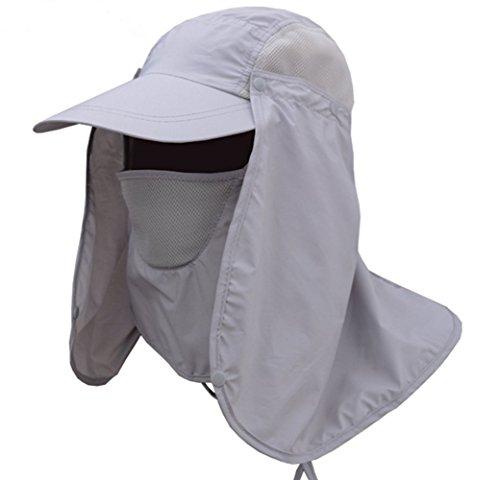 Fashion Outdoor Sun Cap, 360° Schutz UPF 50+ Sommer Angeln Hat mit abnehmbarem Hals & Face Klappe Klappe Hat