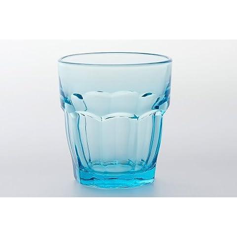 Bormioli Rocco - Rock Bar 6 X Tumbler Basso 27 Cl, Colore: Azzurro