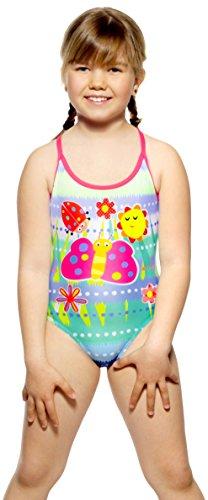 Turbo Happy Kids Badeanzug County Friends für Mädchen - süßer Schwimmanzug mit Schmetterling (Gr. 98/104)