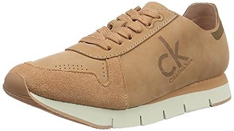 Calvin Klein Jeans Damen Tuesday Nubuck Sneakers, Beige (Dsk), 38 EU (Calvin Klein Sneakers)