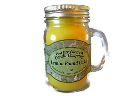 our own candle Company Large Lemon Pound Cake Candle 13oz
