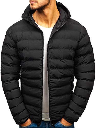 BOLF Herren Winterjacke Steppjacke Sportjacke Casual Style J.Style SM67 Schwarz M [4D4] | 05902646970356