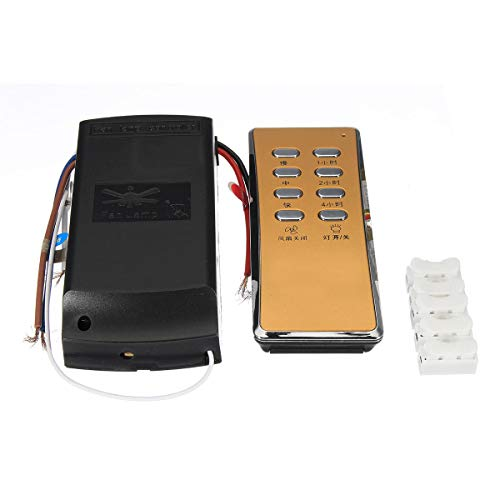 Ceiling Fan Remote Control and Receiver Complete Kit Timing Wireless Timer Speed - Fan Control Kit