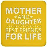 Designsify Best Friends for Life Untersetzer für Mutter und Tochter mit Kork-Rückseite, lustiges Geschenk für Freund, Geburtstag, Hochzeitstag, athletisches Gold, Einheitsgröße