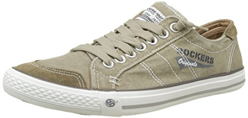 Dockers by Gerli Herren 30ST027 Sneaker - Braun (Sand 450) , 44 EU Herren Low-top Sneaker