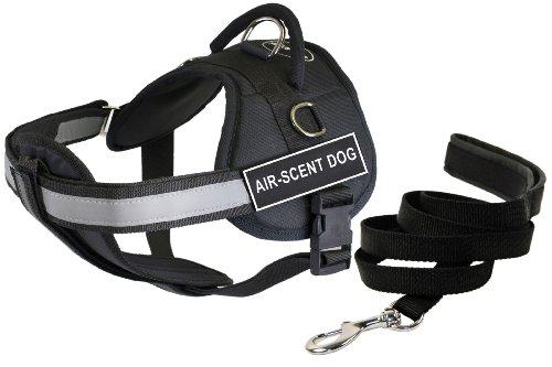 Dean & Tyler's DT Works Hundegeschirr mit gepolsterter Leine für Hundewelpen, Air-Duft und Brustpolster, 1,8 m -