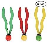 TOYMYTOY 3pcs Unterwasser Tauchen Spielzeug Kinder schwimmbad Ball Tauchbälle