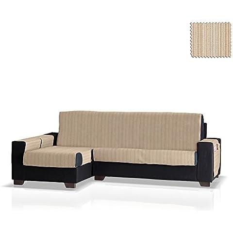 Cubre sofá Chaise Longue Rino, Brazo Izquierdo, tamaño grande (292 Cm.), Color 01 (varios colores