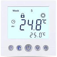 FLOUREON Raumthermostat digital Thermostat programmierbar Raumtemperaturregler für Fussbodenheizung Wasser Heizung Wandheizung Wandthermostat mit großer LCD-Bildschirm 230V 3A