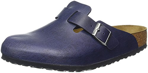 Birkenstock Boston Birko-Flor, Sabots Mixte Adulte Bleu - Blau (PULL UP Navy)