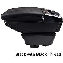 Reposabrazos giratorio para Fabia 2 2008 - 2013 rosca negra caja de almacenamiento reposabrazos