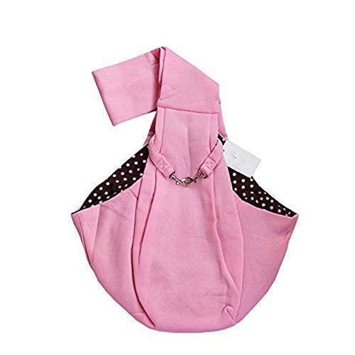WINNER POP Hundetragetasche Pet Sling Bag Pet Wallet Umhängetasche Tragbar Atmungsaktiv Denim Sommer Kätzchen Hundewelpen Outdoor, Nicht verstellbar, Doppelseitig Verfügbar, Pink -