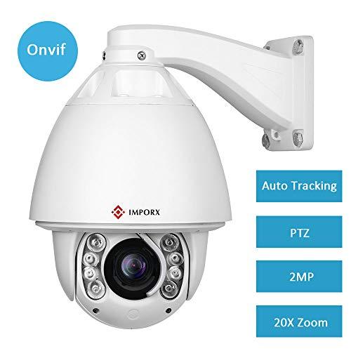 Plug-in-bild-licht (IMPORX PTZ Auto Tracking IP Kamera 20X Optischer Zoom,1080P Full HD im Freien Wasserdichte High Speed Dome Kamera Outdoor 400ft Nachtsicht mit Lüfter,H.265/H.264,mit Heizung und Wischer)