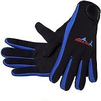 NaiCasy Wetsuits 1,5mm Premium Guantes de Neopreno Buceo Cinco Dedos Guante Azul M Tamaño de 1pc