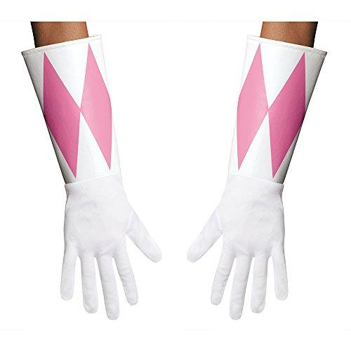 Power Rangers Pink Ranger Adult Gloves One Size (White Ranger Kostüm Für Kinder)