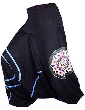 Sarouel donna nero blu pantaloni etnica creatore Aladin harem pant 100% cotone tessuto spesso Aladdin Hippie Yoga...