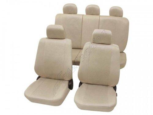 Coprisedili per auto, set completo, , 3er (E30), 3er (E36), 3er (E46), 3er (E90-E93) a. Cabrio, One/Cooper ,beige crema