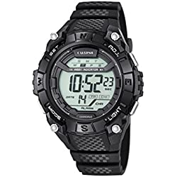 Calypso Unisex Digital Watch with LCD Dial Digital Display and Black Plastic Strap K5683/6