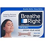 BREATHE RIGHT - BREATHE RIGHT Tiras Nasales Medianas/Grandes 30 unidades