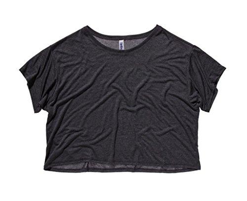 Flowy Boxy T-Shirt Dark Grey Heather