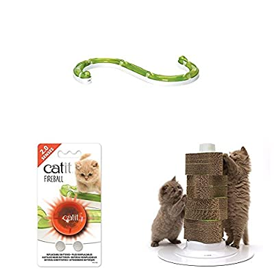 Catit Senses Play and Circuit 2.0 and Senses Light Ball Toy for Cat