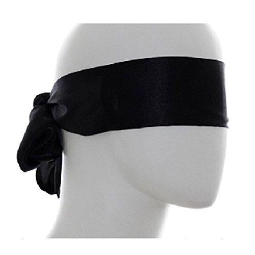 eeddoo® SEIDENAUGENBINDE für erotische Spiele aus Baumwolle - Schwarz - 1,50 m - Fesselspiele Leicht, weich, bequem & Lichtdicht - Damen & Herren Augenbinde für die Augen
