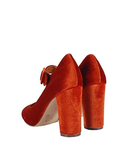 Nasty Gal Varda 04Sandals Burnt Orange-Sandales orange en velours Orange