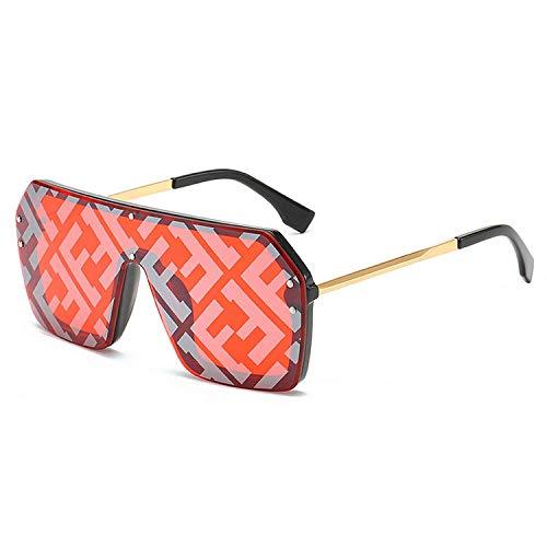 WERERT Sportbrille Sonnenbrillen Oversized Square Sunglasses Women Large Frame Luxury Designer Sun Glasses Men UV400