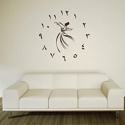 A1511   Meccastyle   Wandtattoo Uhr - ohne Uhrwerk - XL - 80cm x 80cm- 06. Silber