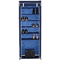IKAYAA Tier 7 Portatile Tessuto Scarpe Rack Cabinet 10 Coppia in Piedi Stivali Scarpe Organizzatore di Stoccaggio