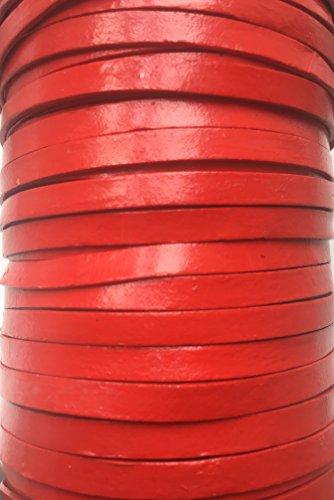 Plat 5 mm véritable de qualité vaches Cuir Rouge Cuir Cordon bijoux Cordon Corde de fil de filetage String, Cuir, noir, 5 Metre