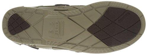 crocs Beach Line Boat Shoe Men 14327-49Y-720 Herren Bootsschuhe Khaki/Khaki
