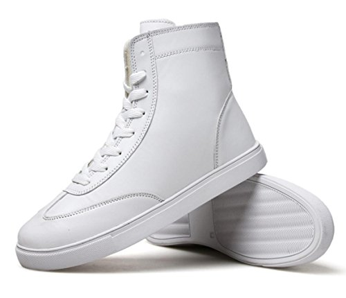 CSDM Men's Retro British Short boots Martin bottes Sports Loisirs Étudiants Outdoor Running Casual Shoes White
